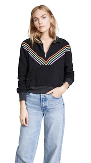 Wildfox 80s Track Star Soto Warm Up Sweatshirt