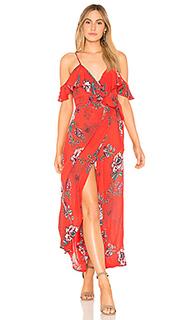 Платье с ложным запахом shadow floral - Band of Gypsies