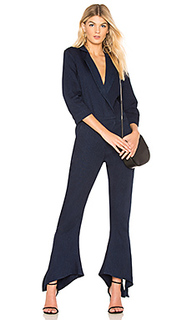 V neck tapered jumpsuit - Halston Heritage