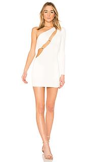 Мини-платье на одно плечо blanche - h:ours
