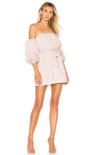 Платье с открытыми плечами puff sleeve - LAcademie