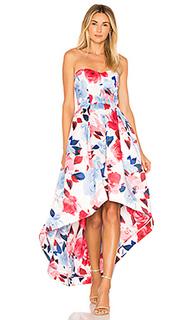 Платье с асимметричным подолом roxanne - Parker Black