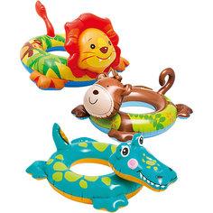 """Детский надувной круг """"Зверюшка"""", Intex, в ассорт."""