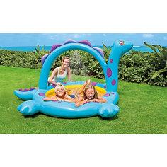 """Детский надувной бассейн с фонтанчиком """"Дино"""", Intex"""