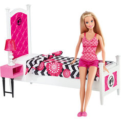 """Кукла + Комплект мебели """"Роскошная спальня"""", Barbie Mattel"""