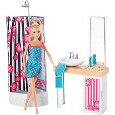 """Кукла + Комплект мебели """"Роскошная ванная"""", Barbie Mattel"""