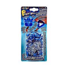 Набор для плетения браслетов из резиночек Finger Loom, синий