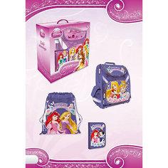 """Школьный набор """"Принцессы Дисней"""" (Эргономичный ранец, мешок для обуви, пенал) Академия групп"""