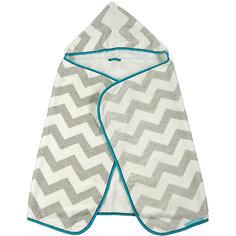 Полотенце с капюшоном Fluffy, Happy Baby, серый