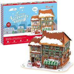 Рождественский домик 4, с подсветкой, CubicFun
