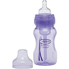 Бутылочка с широким горлышком 240 мл, Dr. Brown, лавандовая Dr.Browns