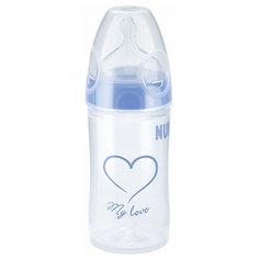 Бутылочка First Choice New Classic, средний поток, 250 мл., NUK, синий