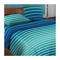 Постельное белье Евро Stripe Blue БИО Комфорт, Wenge Motion