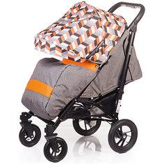 Прогулочная коляска BabyHit DRIVE, серо-оранжевая