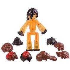 Фигурка с аксессуарами Прически, Stikbot, коричневые Zing