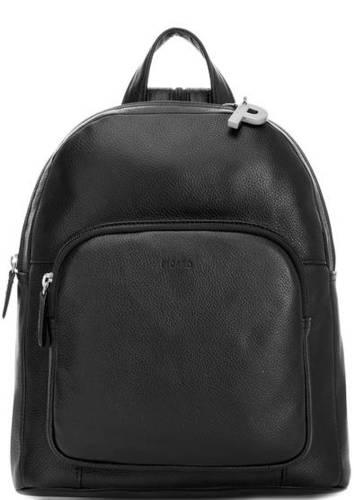 Кожаный рюкзак с одним отделом