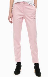 Розовые укороченные брюки с карманами Pinko