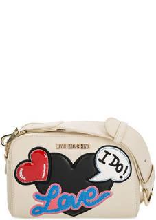 Маленькая сумка с широким плечевым ремнем Love Moschino