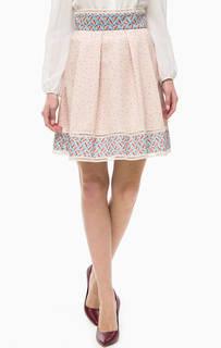 Трикотажная юбка с цветочным принтом Patrizia Pepe