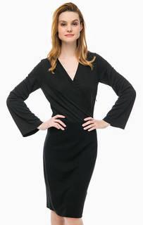 Черное платье с широкими рукавами Cinque