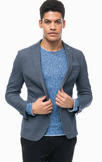 Синий пиджак с накладными карманами Cinque
