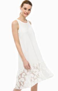 Хлопковое платье молочного цвета Pennyblack