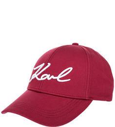 Хлопковая бейсболка с вышивкой Karl Lagerfeld