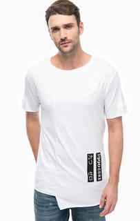 Белая футболка с необработанным краем Jack & Jones