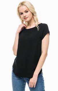 Черная футболка из вискозы Vero Moda