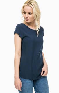 Синяя футболка из вискозы Vero Moda