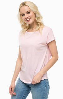 Однотонная розовая футболка United Colors of Benetton
