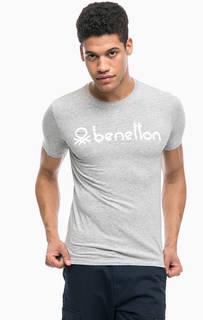 Хлопковая футболка с принтом United Colors of Benetton