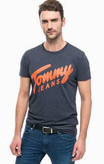 Серая футболка с ярким принтом Tommy Jeans