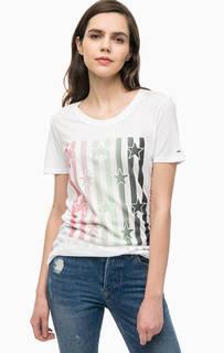 Хлопковая футболка с принтом Tommy Jeans