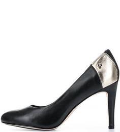 Кожаные туфли с контрастной вставкой Tommy Hilfiger