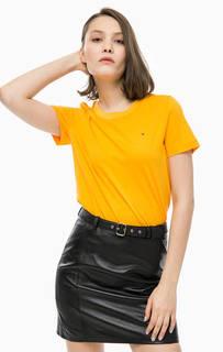 Однотонная желтая футболка Tommy Hilfiger