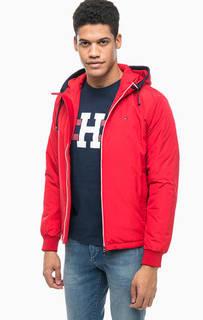 Красная куртка с капюшоном Tommy Hilfiger