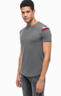 Серая футболка с контрастными вставками Tommy Hilfiger
