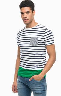 Хлопковая футболка в полоску с карманом Tommy Hilfiger