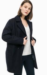 Синее шерстяное пальто Tommy Hilfiger