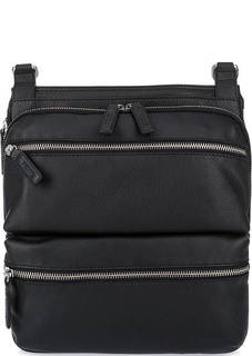 Черная кожаная сумка через плечо Picard