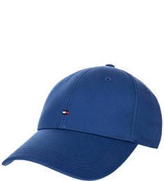 Бейсболка из хлопка синего цвета Tommy Hilfiger