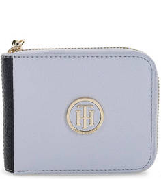 Голубой кошелек с одним отделом для купюр Tommy Hilfiger