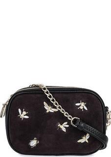 Кожаная сумка с замшевой вставкой Curanni