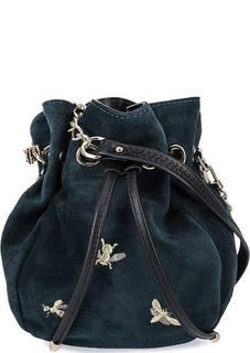 Маленькая зашмевая сумка с вышивкой Curanni