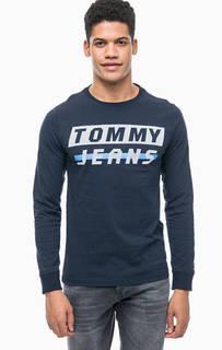 Синяя футболка с длинными рукавами Tommy Jeans
