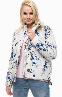 Серая куртка с цветочным принтом B.Young