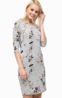 Трикотажное платье с цветочным принтом B.Young