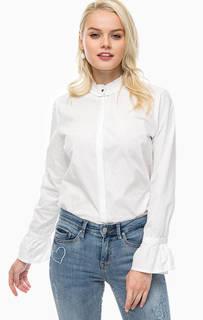 Рубашка из хлопка с воротником-стойкой B.Young