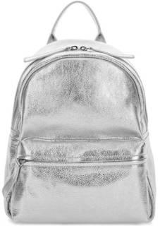Кожаный рюкзак серебристого цвета Io Pelle